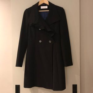 T Tahari 3/4 Length Black Coat - Size 8